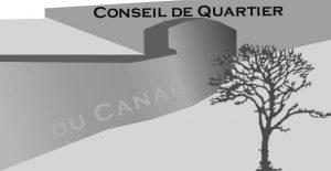 logo pour le CQ du canal représentant le canal en N&B